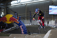 #159 (BERNHART Jacob) GER at the 2014 UCI BMX Supercross World Cup in Manchester.
