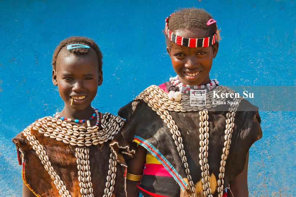 Ari tribe people in traditional clothing, Jinka, South Omo, Ethiopia