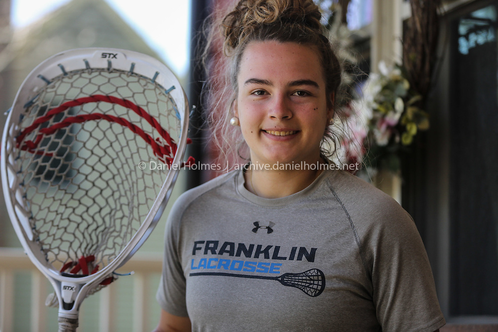 (5/22/20, FRANKLIN, MA) Franklin High senior Gianna Cameron poses for a photo at her home in Franklin on Friday. [Daily News and Wicked Local Photo/Dan Holmes]