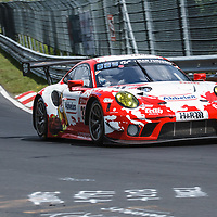 #31, Porsche 911 GT3 R, Frikadelli Racing Team, drivers: Romain Dumas, Matt Campbell, Sven Mueller, Mathieu Jaminet at ADAC Total 24-Hour Race on 22.06.2019 at Nürburgring Nordschleife