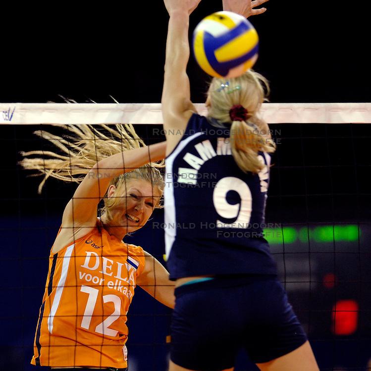 11-11-2007 VOLLEYBAL: PRE OKT: NEDERLAND - AZERBEIDZJAN: EINDHOVEN<br /> Nederland wint ook de de laatste wedstrijd. Azerbeidzjan verloor met 3-1 / Manon Flier<br /> ©2007-WWW.FOTOHOOGENDOORN.NL