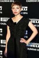 Tavi Gevinson, Pirelli Calendar 2016 - Gala Dinner, The Roundhouse Camden, London UK, 30 November 2015, Photo by Brett D. Cove