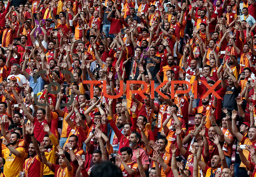 Galatasaray's supporters during their Turkish Super League derby match Galatasaray between Besiktas at the AliSamiYen Spor Kompleksi TT Arena at Seyrantepe in Istanbul Turkey on Sunday, 24 May 2015. Photo by Aykut AKICI/TURKPIX