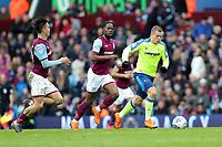Aston Villa v Derby County - Sky Bet Championship<br /> BIRMINGHAM, ENGLAND - APRIL 28 :  derby County's Matej Vydra, goes on the attack with Aston Villa's Jack Grealish chasing