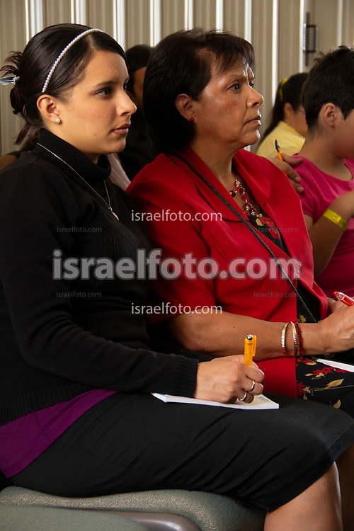 Mexico City. October 6th, 2012. Women who attend a General Conference Saturday session broadcast in Mexico City.