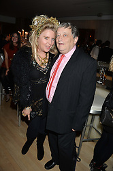 KATRINE BOORMAN and SIR NORMAN ROSENTHAL at the Liberatum Cultural Honour For Sir Terence Conran Dinner held at the Sanderson Hotel, Berners Street, London on 19th November 2013.