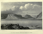 Engraving on steel of The Sea of Galilee from the Heights of Safed from Picturesque Palestine, Sinai and Egypt by Wilson, Charles William, Sir, 1836-1905; Lane-Poole, Stanley, 1854-1931 Volume 2. Published in New York by D. Appleton in 1881-1884