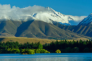 Oceania, New Zealand, Aotearoa, South Island, Canterbury, Twizel, lake Lake Ruataniwha and Southern Alps
