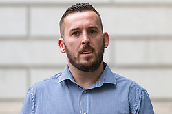 James Goddard arrives at Westminster Magistrates Court in London where he is on trial for harassment of MP Anna Soubry outside the Houses of Parliament. LONDON, July 19 2019.