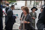 LADY ASHCOMBE; COSIMA FRY, Memorial service for Mark Shand.  . St. Paul's Knightsbridge. September 11 2014.