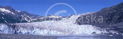 Alaska. Valdez. Jagged icy peaks of Shoup Glacier.