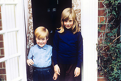 Undated family file picture of Lady Diana Spencer (Diana Princess of Wales) with her Brother Charles, Lord Alhorp (Earl Spencer) in 1968.