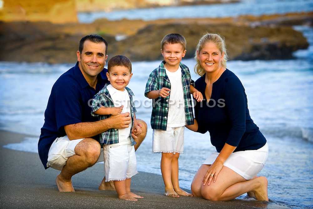 Family Beach Casual Portrait