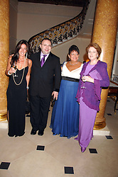 Left to right, KATRINA SEDLEY, JONATHAN SHALIT, SUSAN CLARK and LADY ELIZABETH ANSON at a pub style quiz night in aid of Rapt at Willaim Kent House, The Ritz, London on 25th June 2006.  The questions were composed by Judith Keppel and the winning team won £1000 to donate to a charity of their choice.<br /><br />NON EXCLUSIVE - WORLD RIGHTS