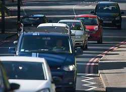 © Licensed to London News Pictures. 02/05/2020. London, UK. Traffic builds up on Hanger Lane in Ealing, West London, during lockdown to prevent the spread of COVID-19 strain of coronavirus. According to government, the UK provided more than 122,000 coronavirus tests on the last day of April. Photo credit: Ben Cawthra/LNP