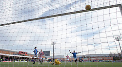 Rangers' Kyle Lafferty scores his side's fifth goal of the game during the Scottish Premiership match at the Superseal Stadium, Hamilton.