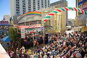 A band performs during the Eldorado Great Italian Festival in downtown Reno Nevada.