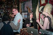 RICHARD MORTIMER; JACQUI POTATO; JONBEMET, Ponystep - issue 3 launch party, George and Dragon, 2-4 Hackney Road, London, E2.  April 5 2012.