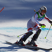 Winter Olympics, Vancouver, 2010.Anna Fenninger, Austria, in action in the Alpine Skiing Ladies Super Combined competition at Whistler Creekside, Whistler, during the Vancouver Winter Olympics. 18th February 2010. Photo Tim Clayton
