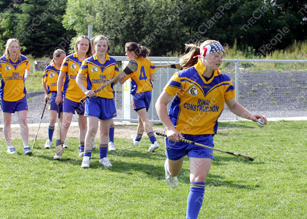 Chloe Morey pictured having her final team practice before the Feile Na nGael on Friday 8th June 2007.<br />Pic. Emma Jervis/ Press 22