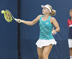 August 31, 2017 - New York, New York, United States - Daria Gavrilova of Australia returns ball during match against Shelby Rogers of USA at US Open Championships at Billie Jean King National Tennis Center  (Credit Image: © Lev Radin/Pacific Press via ZUMA Wire)