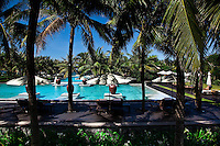 View over one of the pools at the Nam Hai Resort in Hoi An, Vietnam.