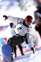 Snowboard, snøbrett, NM halfpipe Kongsberg Skisenter 24. mars 2001. Thea Stenshagen.