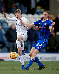 Rochdale's Ethan Hamilton and Coventry City's Luke Thomas battle for the ball