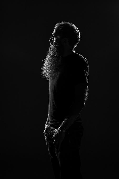 Studio self portrait of Stefan Roberts