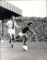 Sep. 11, 1971 - Crystal Palace V Manchester United: Photo shows McCormick the Palace defender and George Best the Manchester outside le go for the ball during the match at Selhurst Park Manchester won 3-1. (Credit Image: © Keystone Press Agency/Keystone USA via ZUMAPRESS.com)