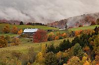 Stormy Autumn skies over Groton, Vermont