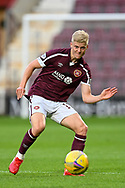 Alex Cochrane (#17) of Heart of Midlothian FC during the Cinch SPFL Premiership match between Heart of Midlothian FC and Celtic FC at Tynecastle Park, Edinburgh, Scotland on 31 July 2021.