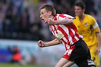 Photo: Pete Lorence.<br />Lincoln City v Bristol Rovers. Coca Cola League 2. Play off, Semi Final 2nd Leg. 17/05/2007.<br />Jeff Hughes celebrates scoring.