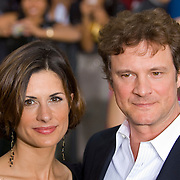 SHEFFIELD, UNITED KINGDOM - 9th June 2007: British actor Colin Firth and wife Livia at International Indian Film Academy Awards (IIFAs) at the Sheffield Hallam Arena on June 9, 2007 in Sheffield, England.