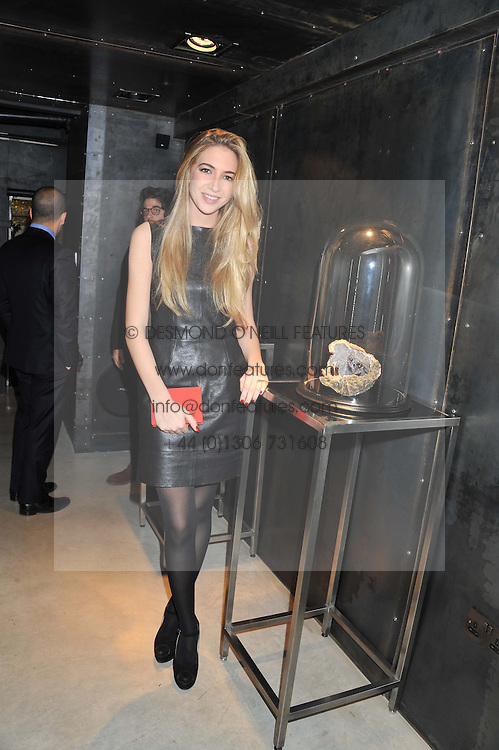 SABINE GHANEM at a private view of jewellery by Eugenie Nairchos and Noor Fares entitled Galactic Garden held at Shizaru Mayfair, 112 Mount Street, London on 5th December 2012.