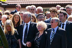© Licensed to London News Pictures. 12/06/2015. Fort William, UK. Charles Kennedy's family attending the funeral of ex-Liberal Democrat leader Charles Kennedy at St John's Church in Caol, near his Fort William home in Scotland on Friday, June 12, 2015. Mr Kennedy died suddenly on June 1, 2015 at the age of 55 after suffering a major haemorrhage as a result of a long battle with alcoholism. Photo credit: Tolga Akmen/LNP