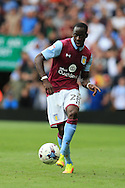 Aly Cissokhu of Aston Villa in action. EFL Skybet championship match, Aston Villa v Rotherham Utd at Villa Park in Birmingham, The Midlands on Saturday 13th August 2016.<br /> pic by Andrew Orchard, Andrew Orchard sports photography.