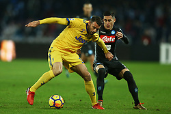 December 1, 2017 - Naples, Italy - Andrea Barzagli of Juventus and Jose Maria Callejon of Napoli during the Serie A match between SSC Napoli and Juventus at Stadio San Paolo on December 1, 2017 in Naples, Italy. (Credit Image: © Matteo Ciambelli/NurPhoto via ZUMA Press)