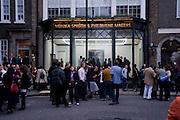 Cindy Sherman exhibition. Spruth Magers, London. Grafton st. London. Afterwards at Bellamy's, Bruton Place. 15 April 2009.<br /> Cindy Sherman exhibition. Spruth Magers, London. Grafton st. London. Afterwards at Bellamy's, Bruton Place. 15 April 2009.  *** Local Caption *** -DO NOT ARCHIVE-© Copyright Photograph by Dafydd Jones. 248 Clapham Rd. London SW9 0PZ. Tel 0207 820 0771. www.dafjones.com.