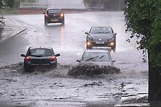Thunderstorm floods, Glasgow, 7 August 2021