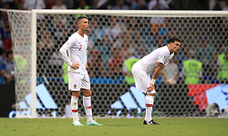 Portugal's Cristiano Ronaldo (left) and Pepe dejected after the game