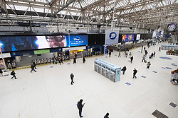 © Licensed to London News Pictures. 18/03/2020. London, UK. An empty Waterloo was train station during the morning rush during the Coronavirus outbreak. Photo credit: Ray Tang/LNP