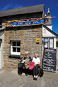 Isles of Scilly, 22 May 2009: Anne and Brian Horrell outside the New Inn pub on Tresco. They spent their honeymoon on the Island 50 years ago and this was the first time that they had returned. Photo by Peter Horrell / http://peterhorrell.com