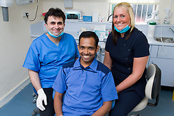 Dentist and dental nurse,