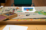 table of children book illustrator and artist Eric Carle 2005