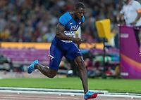Athletics - 2017 IAAF London World Athletics Championships - Day One<br /> <br /> Event: Men's 100 Metres Qualifying <br /> <br /> Justin Gatlin (USA) <br /> <br /> <br /> COLORSPORT/DANIEL BEARHAM