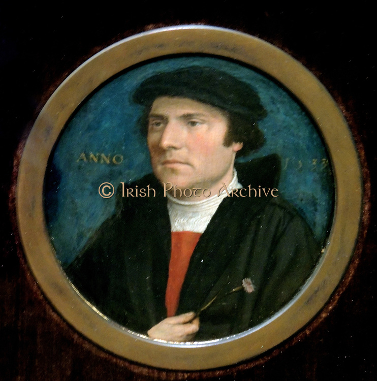 Portrait of  a Young Man with a Pink Carnation 1533. Hans Holbein the Younger