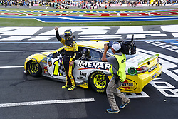 September 30, 2018 - Concord, North Carolina, United States of America - Ryan Blaney (12) wins the Bank of America ROVAL 400 at Charlotte Motor Speedway in Concord, North Carolina. (Credit Image: © Chris Owens Asp Inc/ASP via ZUMA Wire)