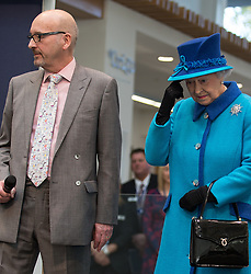 © Licensed to London News Pictures . FILE PICTURE DATED 14/11/2013 . Manchester , UK . LEN WARDLE (left in glasses) with Queen Elizabeth at the Co-operative's new corporate HQ at 1 Angel Square . The chairman of the Co-operative Group , Len Wardle , has resigned after a sex and drugs scandal involving the group's former banking chairman , Paul Flowers . Queen Elizabeth II and the Duke of Edinburgh visit the Coop building at 1 Angel Square , Manchester , this morning ( 14th November 2013 ) . Photo credit : Joel Goodman/LNP