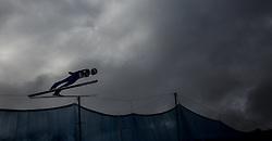 01.01.2016, Olympiaschanze, Garmisch Partenkirchen, GER, FIS Weltcup Ski Sprung, Vierschanzentournee, Probedurchgang, im Bild Denis Kornilov (RUS) // Denis Kornilov of Russian Federation during his Trial Jump for the Four Hills Tournament of FIS Ski Jumping World Cup at the Olympiaschanze, Garmisch Partenkirchen, Germany on 2016/01/01. EXPA Pictures © 2016, PhotoCredit: EXPA/ JFK